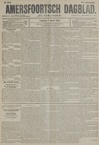 Amersfoortsch Dagblad / De Eemlander 1916-04-07