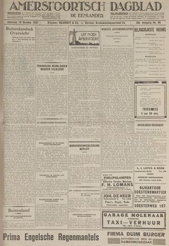 Amersfoortsch Dagblad / De Eemlander 1931-10-10
