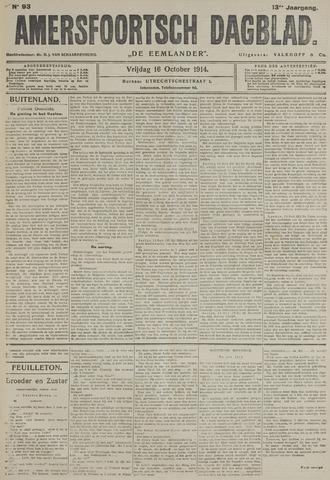 Amersfoortsch Dagblad / De Eemlander 1914-10-16