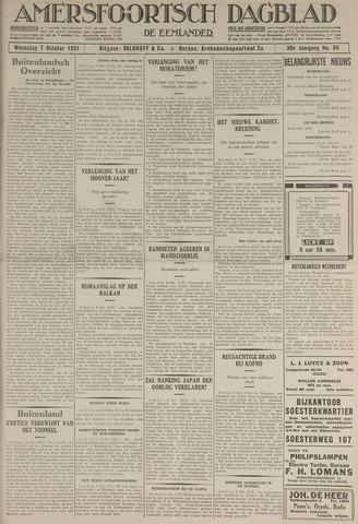 Amersfoortsch Dagblad / De Eemlander 1931-10-07