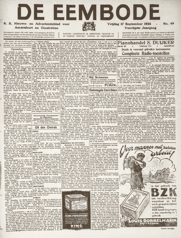 De Eembode 1926-09-17