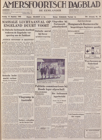 Amersfoortsch Dagblad / De Eemlander 1940-08-13