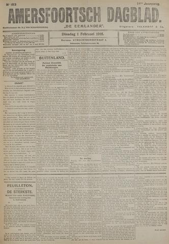 Amersfoortsch Dagblad / De Eemlander 1916-02-01