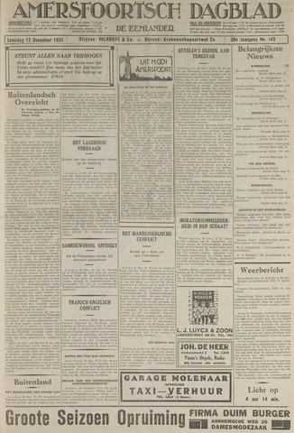 Amersfoortsch Dagblad / De Eemlander 1931-12-12