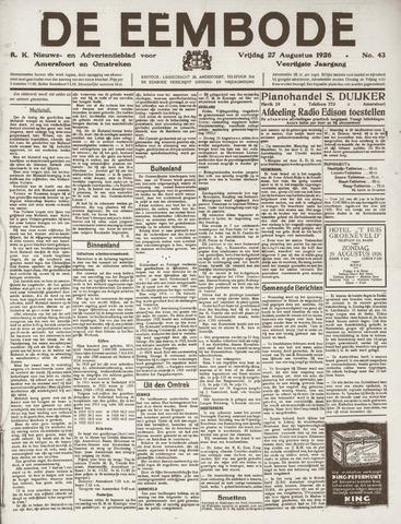 De Eembode 1926-08-27