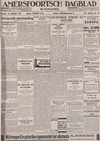 Amersfoortsch Dagblad / De Eemlander 1937-09-18