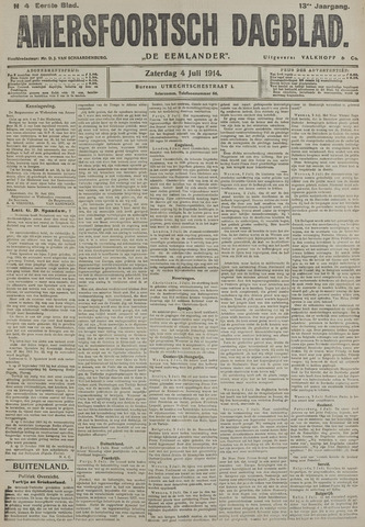 Amersfoortsch Dagblad / De Eemlander 1914-07-04
