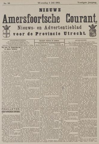 Nieuwe Amersfoortsche Courant 1911-07-05
