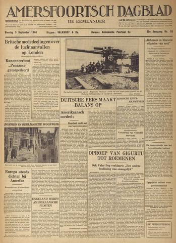 Amersfoortsch Dagblad / De Eemlander 1940-09-03