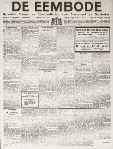De Eembode 1915-07-16