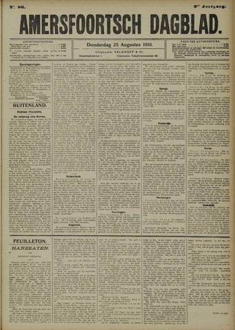 Amersfoortsch Dagblad 1910-08-25