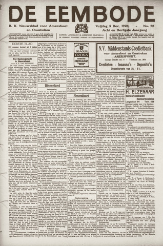 De Eembode 1924-12-05