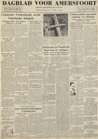 Dagblad voor Amersfoort 1947-12-01