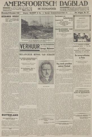 Amersfoortsch Dagblad / De Eemlander 1930-11-26