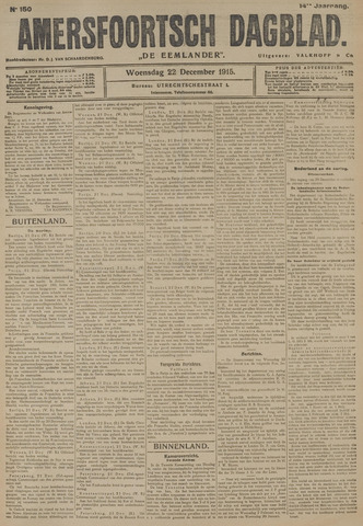 Amersfoortsch Dagblad / De Eemlander 1915-12-22