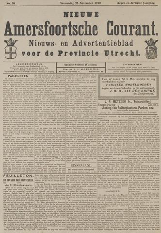 Nieuwe Amersfoortsche Courant 1910-11-23