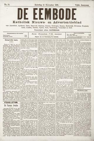 De Eembode 1891-11-21