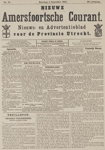 Nieuwe Amersfoortsche Courant 1915-09-04