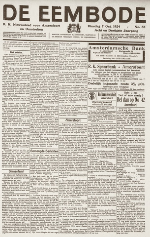 De Eembode 1924-10-07