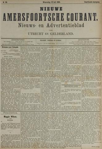 Nieuwe Amersfoortsche Courant 1885-07-22