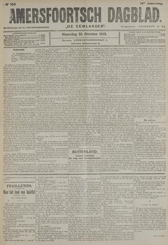 Amersfoortsch Dagblad / De Eemlander 1915-10-25