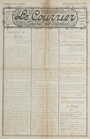 Le Courrier 1918-07-21