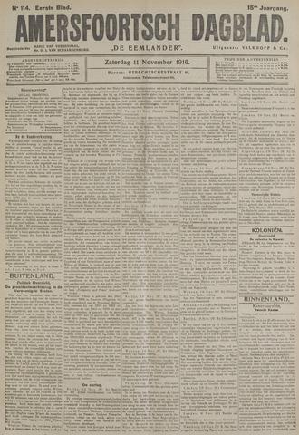 Amersfoortsch Dagblad / De Eemlander 1916-11-11
