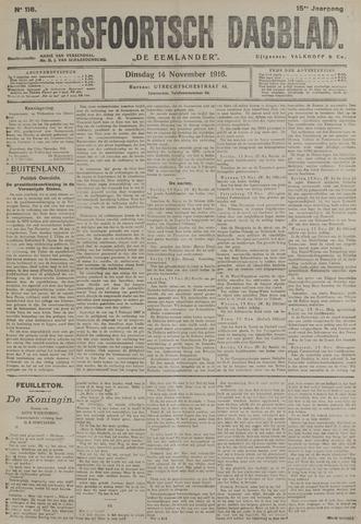Amersfoortsch Dagblad / De Eemlander 1916-11-14