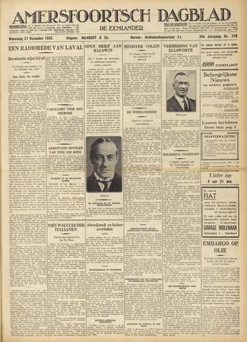 Amersfoortsch Dagblad / De Eemlander 1935-11-27