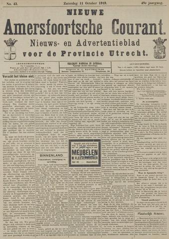 Nieuwe Amersfoortsche Courant 1919-10-11