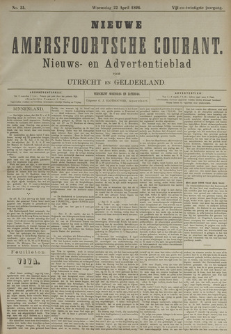 Nieuwe Amersfoortsche Courant 1896-04-22