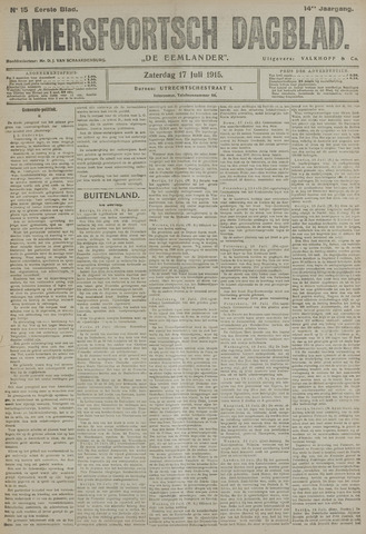 Amersfoortsch Dagblad / De Eemlander 1915-07-17