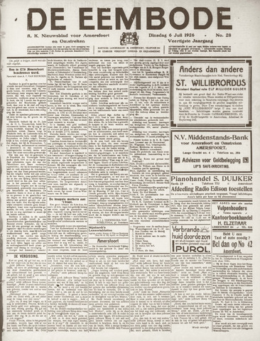 De Eembode 1926-07-06