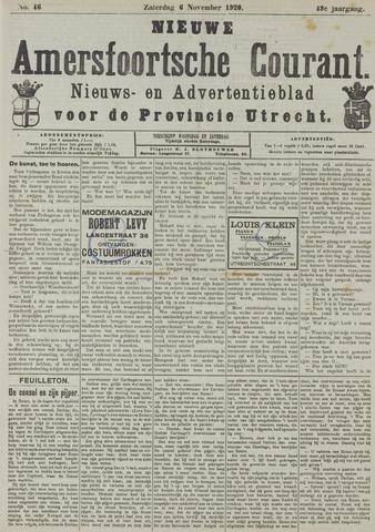 Nieuwe Amersfoortsche Courant 1920-11-06