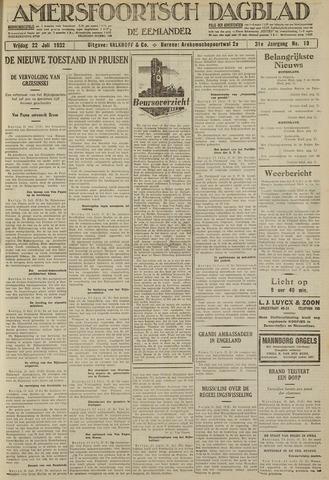 Amersfoortsch Dagblad / De Eemlander 1932-07-22
