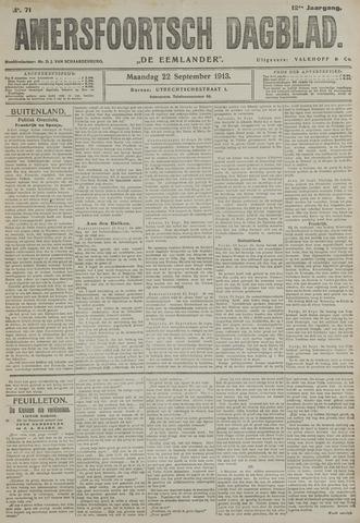 Amersfoortsch Dagblad / De Eemlander 1913-09-22
