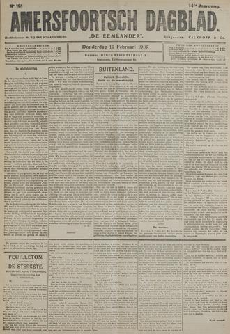 Amersfoortsch Dagblad / De Eemlander 1916-02-10
