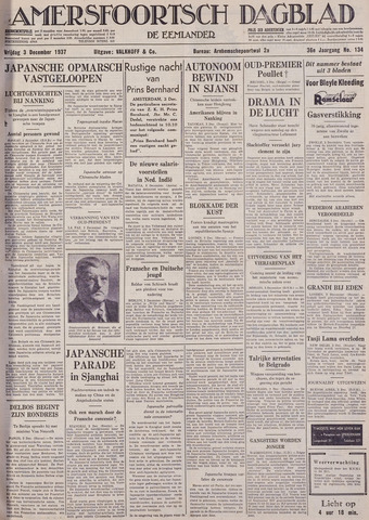 Amersfoortsch Dagblad / De Eemlander 1937-12-03