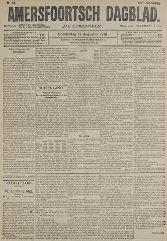 Amersfoortsch Dagblad / De Eemlander 1916-08-17