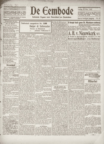 De Eembode 1932-11-25