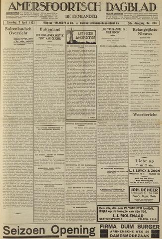 Amersfoortsch Dagblad / De Eemlander 1932-04-02