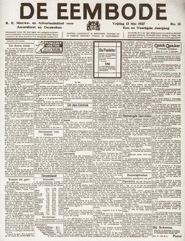 De Eembode 1927-05-13