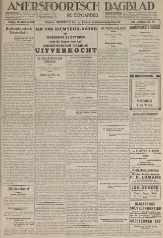 Amersfoortsch Dagblad / De Eemlander 1931-10-16