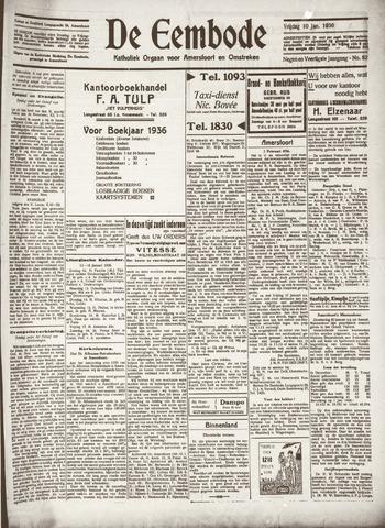 De Eembode 1936-01-10
