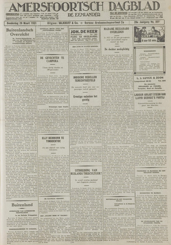 Amersfoortsch Dagblad / De Eemlander 1931-03-26