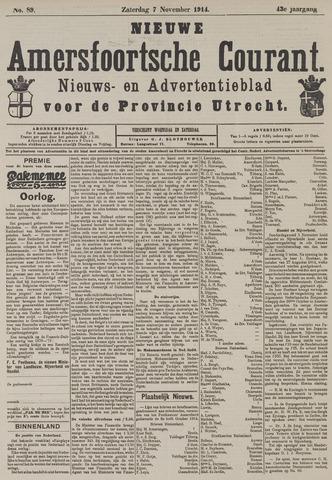 Nieuwe Amersfoortsche Courant 1914-11-07