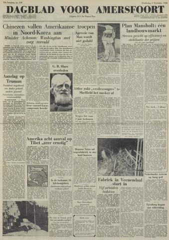 Dagblad voor Amersfoort 1950-11-02