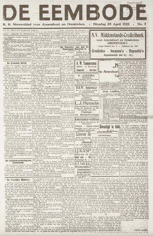 De Eembode 1922-04-25
