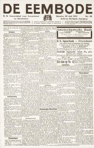 De Eembode 1924-07-29