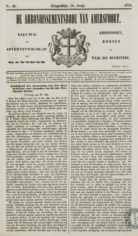 Arrondissementsbode van Amersfoort 1849-06-19